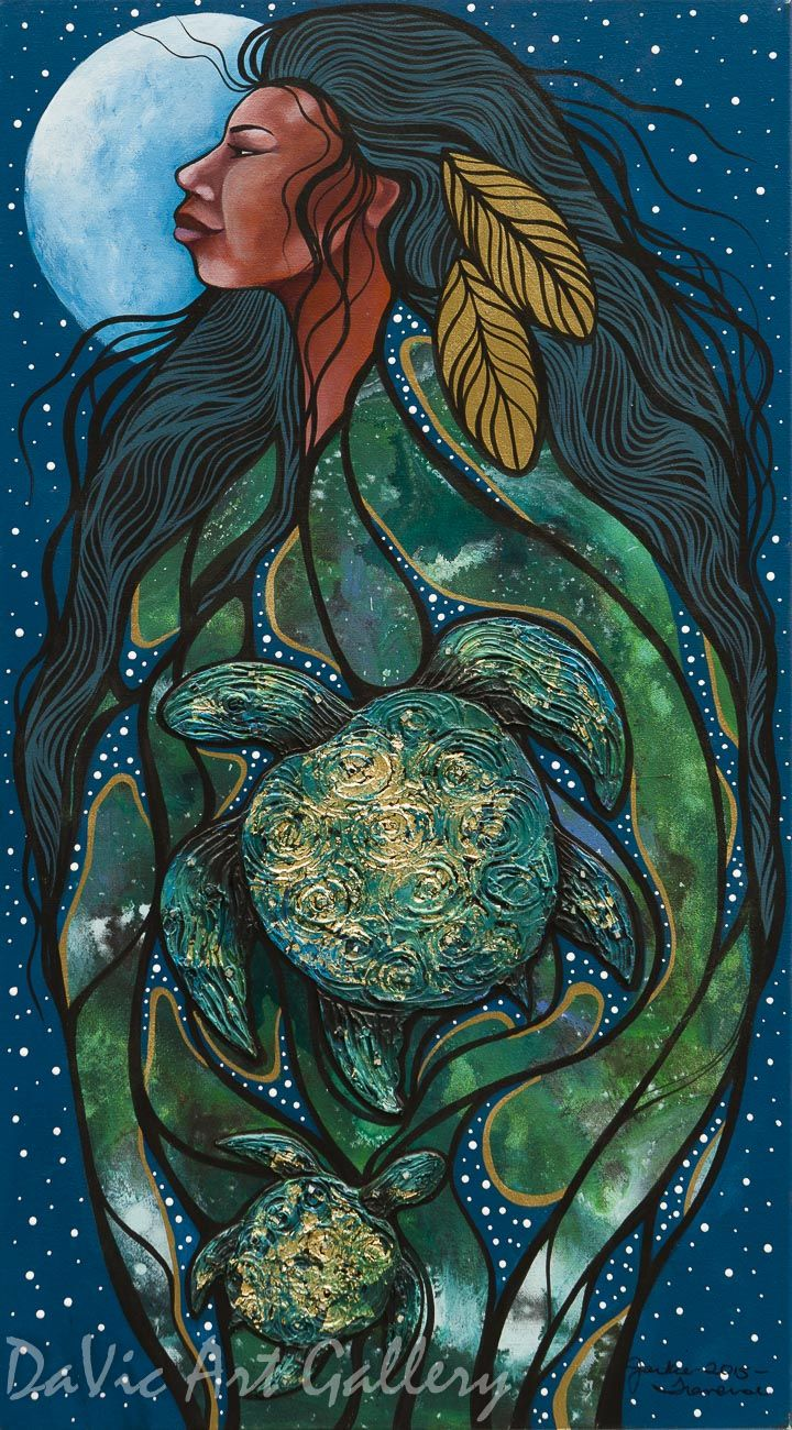 Mother Earth By Jackie Traverse Native Canadian Arts Mother Earth Art Earth Drawings Earth Art