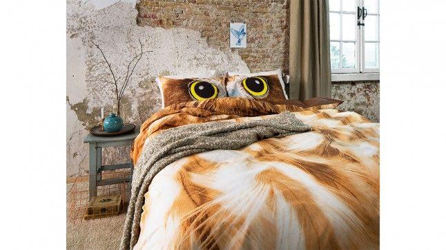 Dekbedovertrek Owl Look Taupe