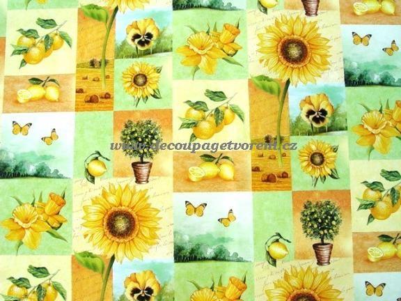 Decoupage papíry 50 x 70 cm | Slunečnice a další motivy, 50x68 cm | Decoupage, ubrousky, dekorace, Twist Art
