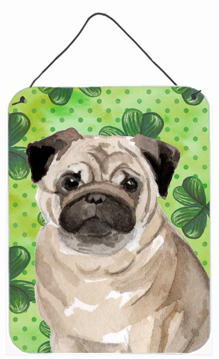 Fawn Pug St. Patrick's Wall or Door Hanging Prints BB9566DS1216