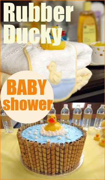 Quack quack! Check out these adorable ideas for a rubber ducky-themed baby shower or kids party.