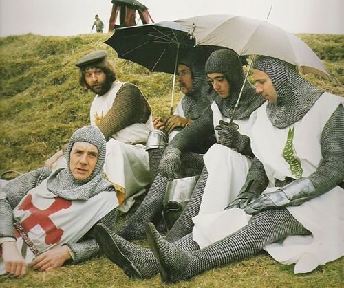 Terry Gilliam, Terry Jones, MP & the holy grail