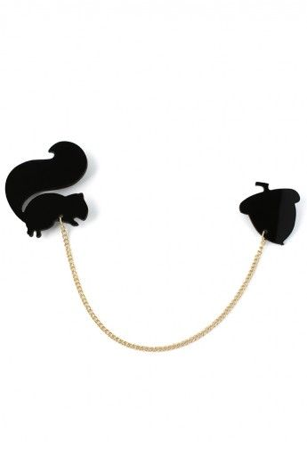 Squirrel And Nut Collar Studs