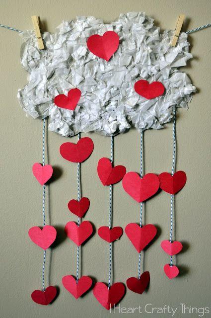 """Het regent harten   gratis thema """"ik hou van jou""""   www.peuteractiviteitenweb.com"""