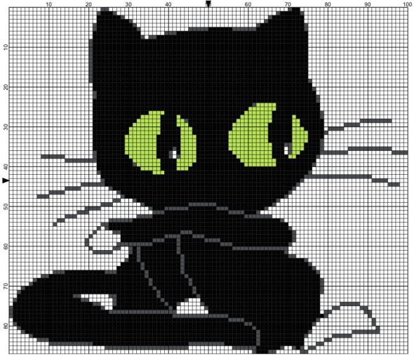 Cat free cross stitch pattern