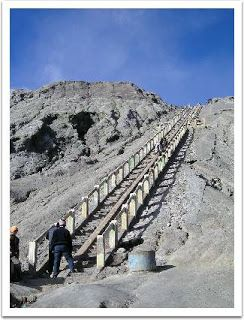 Stairs of mount Bromo, East Java, Indonesia