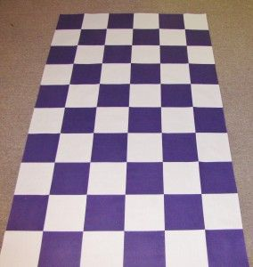 Custom checker flag aisle runner for a NASCAR driver's wedding.  www.originalrunners.com: Checkered Flag