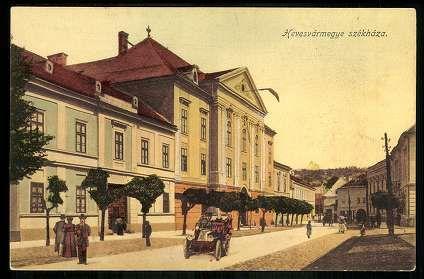 1909. Eger, Hevesvármegye székháza, Megyeháza - Kossuth Lajos utca | Képcsarnok | Hungaricana