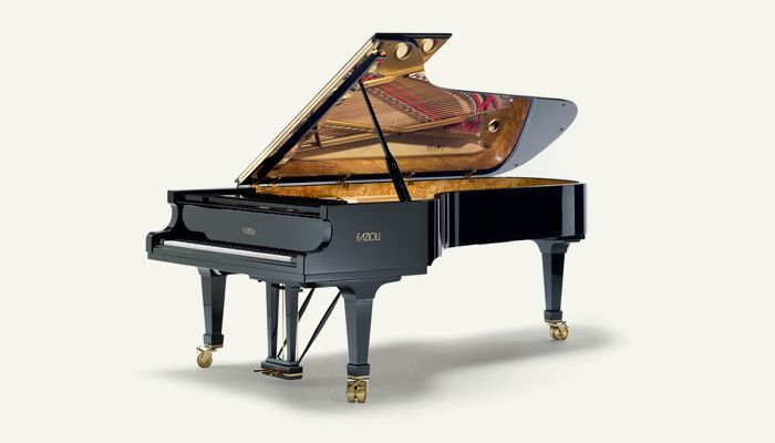 A standard concert grand piano size with magnificent transmitting power, extensive dynamic range and harmonic richness. A classic instrument for large concert halls and recording studios. #madeinitaly