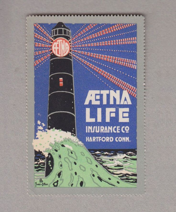 Neat old logo on this poster stamp advertising @aetna life ...
