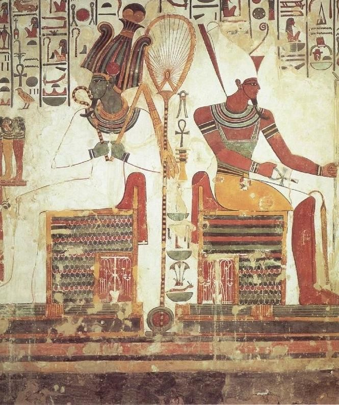 3833 best images about ancient things on pinterest for Egypt mural painting