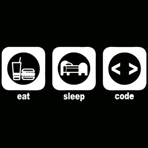 EAT SLEEP CODE Programming Computer Funny Nerd Humor TShirt All Colors & Sizes