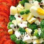 Ziemniaczana sałatka z pomidorami
