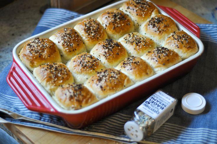 Everything Bagel Brioche Rolls — The Sweet & Sour Baker