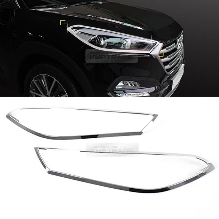 Chrome Front Head Light Lamp Cover Molding Trim For Hyundai 2016 2018 Tucson Tl Lamp Cover Moldings And Trim Headlights