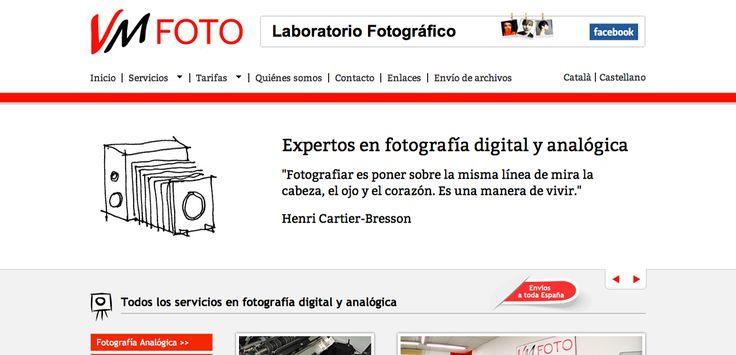 Página web VM Fotos | Expertos en fotografía digital y analógica