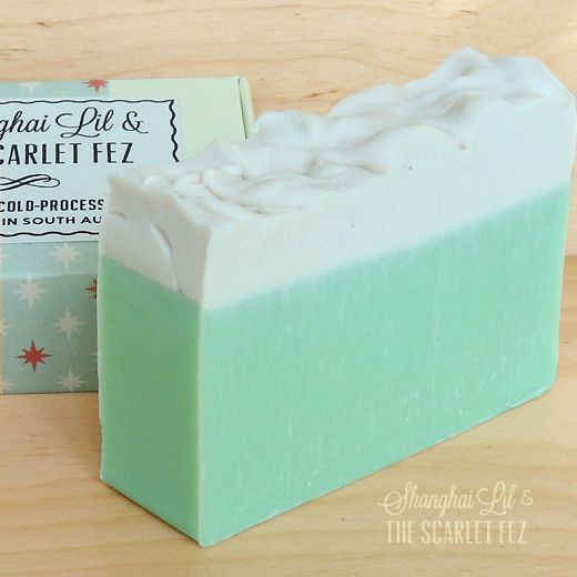 Lime Meringue soap.  All natural, vegan and hand-crafted in Adelaide, South Australia by Shanghai Lil & The Scarlet Fez.