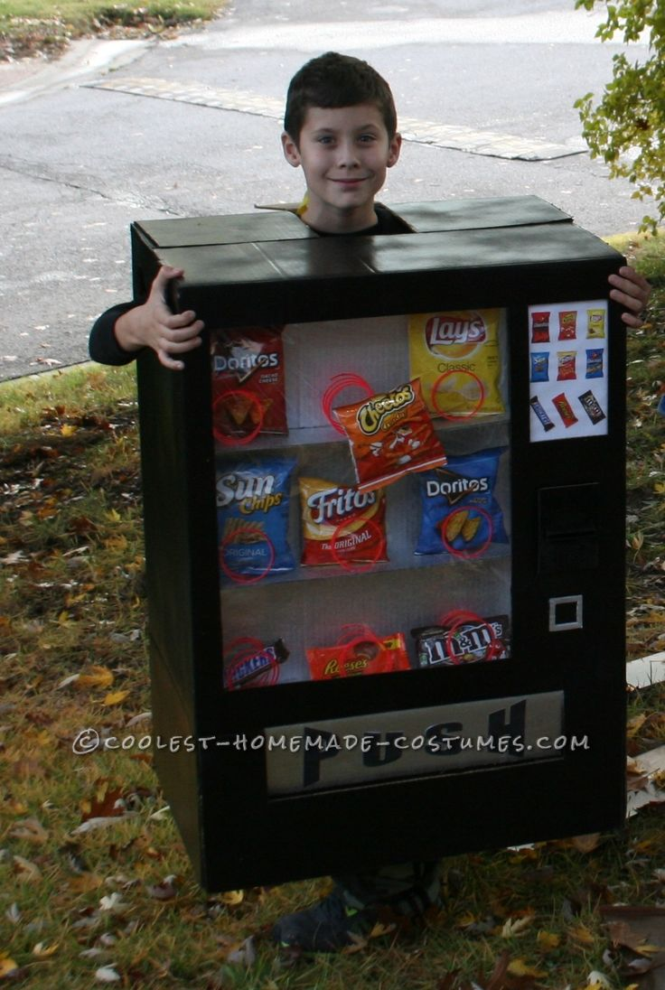 Boy s awesome vending machine costume homemade for 9 year old boy halloween costume ideas