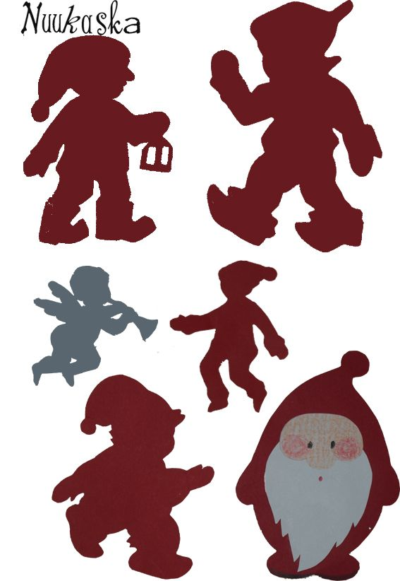 joulu, joulukalenteri, tonttu, elf, Xmas, advent calender, diy, paperiaskartelu, tonttusilhuetti, enf silhouette