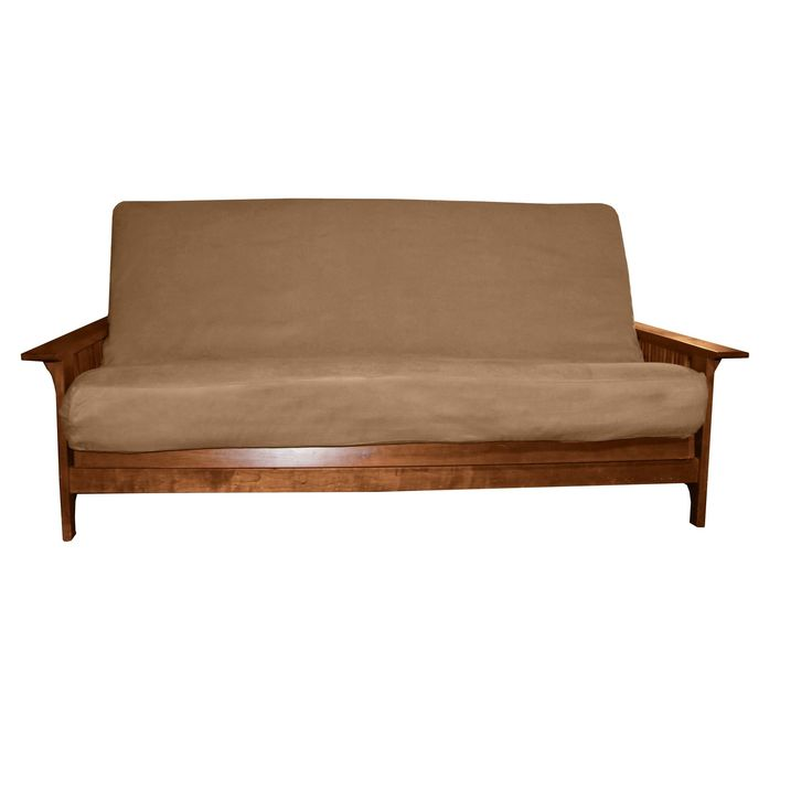 Ultimate Better Fit Machine Washable Upholstery Grade Futon Mattress Cover - Full-size - Mocha Brown - Sit N Sleep, Pecan