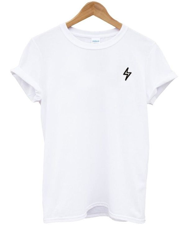 1dab7d922ca490 White Lightning Bolt T-shirt in 2019 | Must try looks | Shirts, T ...