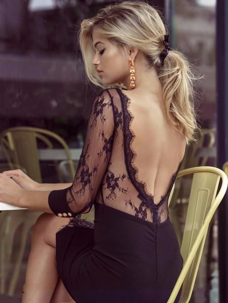 Allesandra Dress in Black by DUKE n co