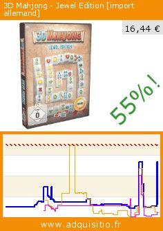 3D Mahjong - Jewel Edition [import allemand] (Jeu informatique). Réduction de 55%! Prix actuel 16,44 €, l'ancien prix était de 36,62 €. http://www.adquisitio.fr/emme/3d-mahjong-jewel-edition