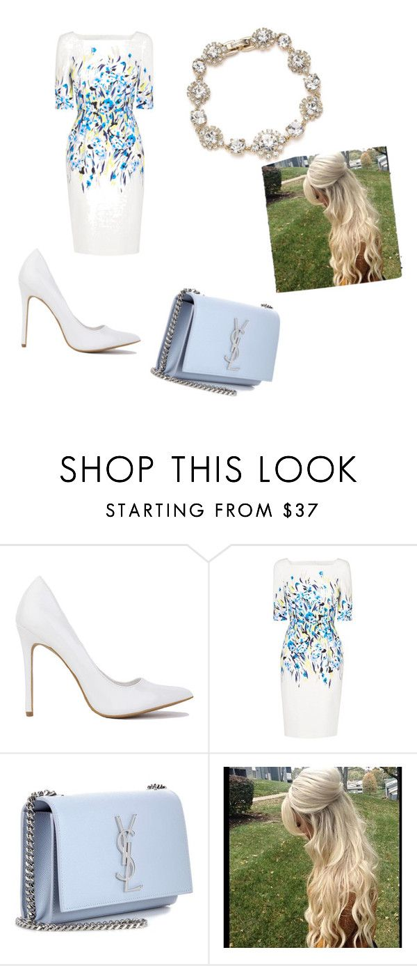 """Blue "" by katkahrdl-1 on Polyvore featuring L.K.Bennett, Yves Saint Laurent and Marchesa"