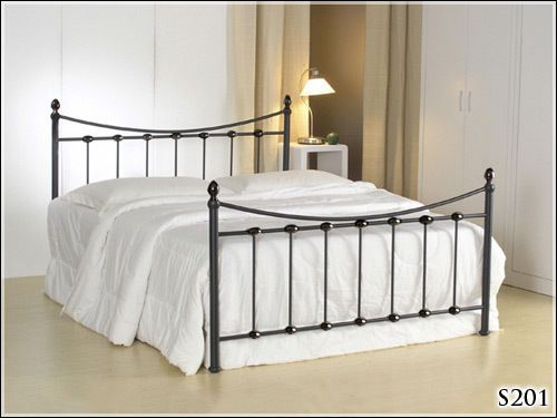 """** BRAND NEW ** 4ft 6"""" BLACK METAL DOUBLE BED FRAME AND MATTRESS **TOP SELLER** 
