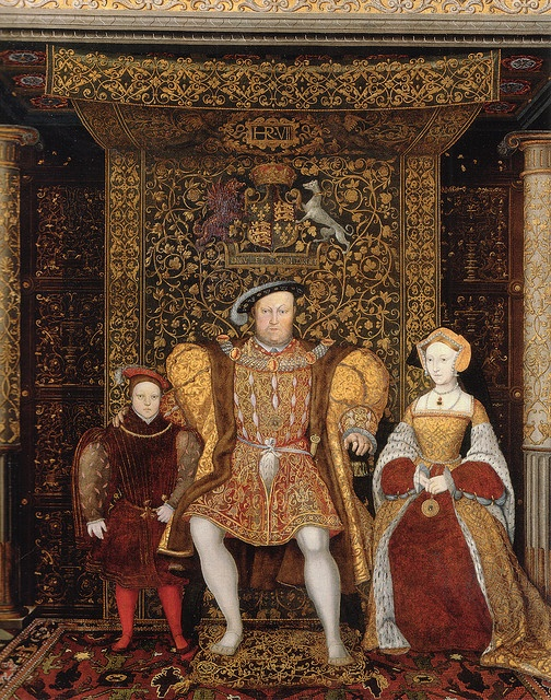 Henry VIII with son Edward and his wife, Jane Seymour