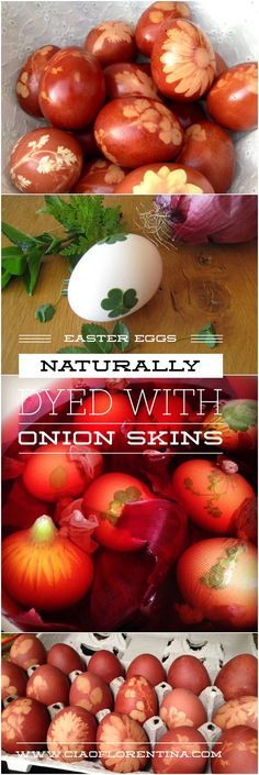 Homemade Easter Eggs Naturally Dyed with Onion Skins | www.CiaoFlorentina.com
