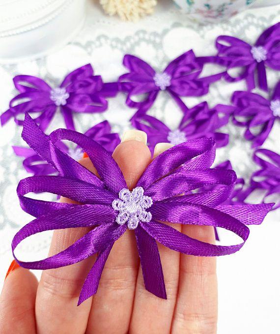 Big decorative bows purple satin ribbon bows big gift bows