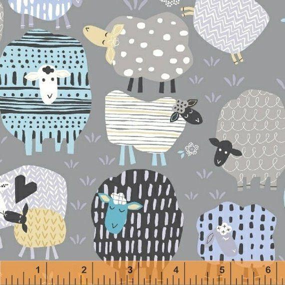 SHEEP FABRIC ANIMAL FAT QUARTER 50 cm x 56 cm COTTON BUNTING GIFT CUSHION SEW
