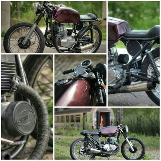 Jawa 350 TS , CafeRacer Vintage Motorcycle from Portugal