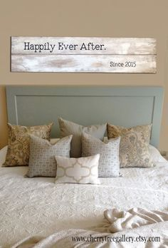 Rustic Large Happily Ever After Wood by cherrytreegallery on Etsy
