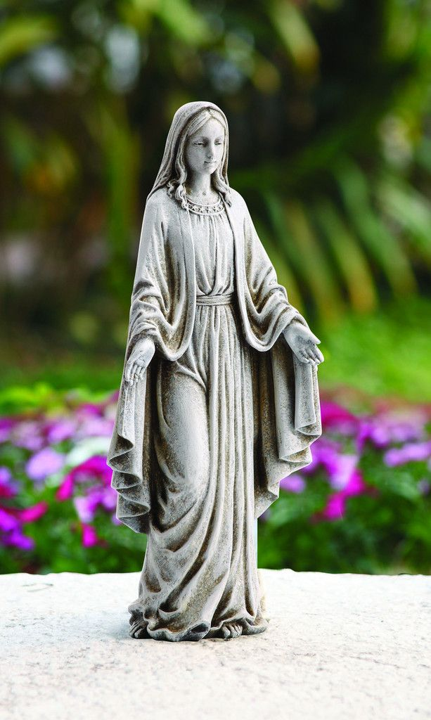 "Madonna Our Lady of Grace Garden Statue 12"" Tall"
