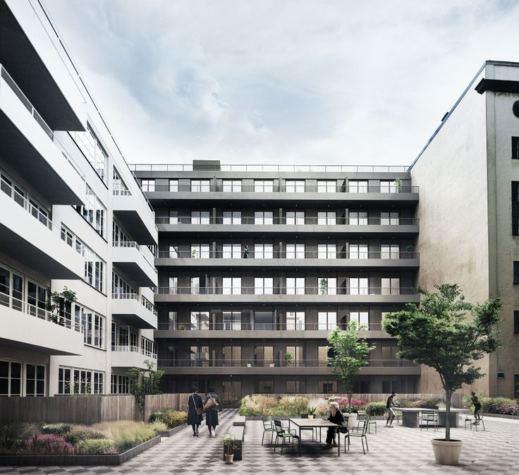 Oscar Properties : Chokladfabriken #oscarproperties  facade, hammarbysjöstad, HG7, garden, architecture