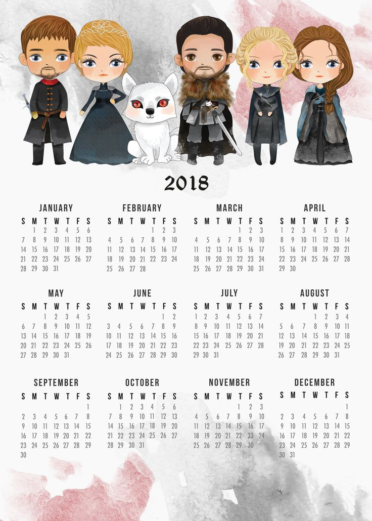 Attention all Game Of Thrones Fans...we have a New Free Printable 2018 Game of Thrones Calendar for you and we sure hope you enjoy!
