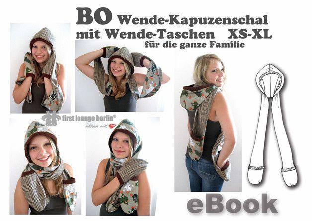 BO♥ Kapuzenschal eBook Nähanleitung von firstloungeberlin bei DaWanda