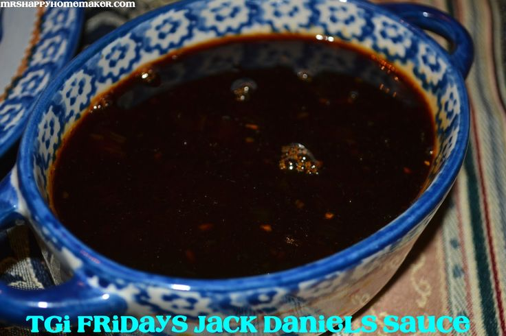 Copycat of TGIF's Jack Daniels sauce I think I might try this see if it tastes the same. My family loves TGIF and their Jack Daniels sauce is great. We have tried the store bought marinade by Jack Daniels it sucked and tasted nothing like it. Hopefully this will be better and closer to what you actually get at the restaurant.