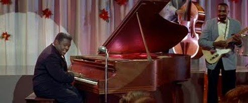 Little Richard's performance in 'The Gurl Can't Help It' is enhanced by the director's use of the wide Cinemascope screen.
