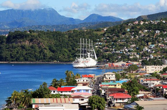 Roseau, Dominica, which includes a mix of both Creole and Caribbean architecture. (photo by Richard Goldberg for Shutterstock)