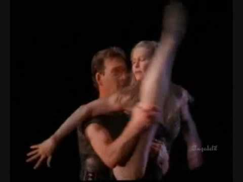 Patrick Swayze, his real life wife Lisa Niemi, and Geroge de la Pena - One Last Dance