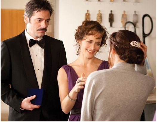 Charlie and Renee give Bella something blue for her wedding in The #Twilight Saga - #BreakingDawn Part 1.