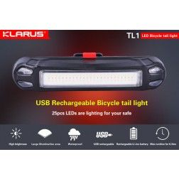 Klarus TL1 USB Rechargeable Bike Tail Light