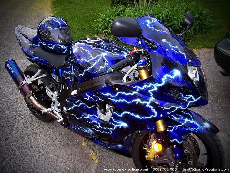 Custom Painted Sport Bikes | Sportbike Custom Painting Gallery of motorcycles with custom painting
