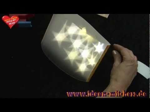 Ideen mit Herz - Stehleuchte aus Lichteffekt-Folie und LED Draht-Lichterkette - YouTube