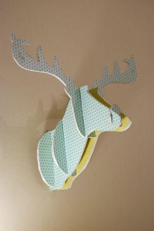 cardboard deer head, tuto