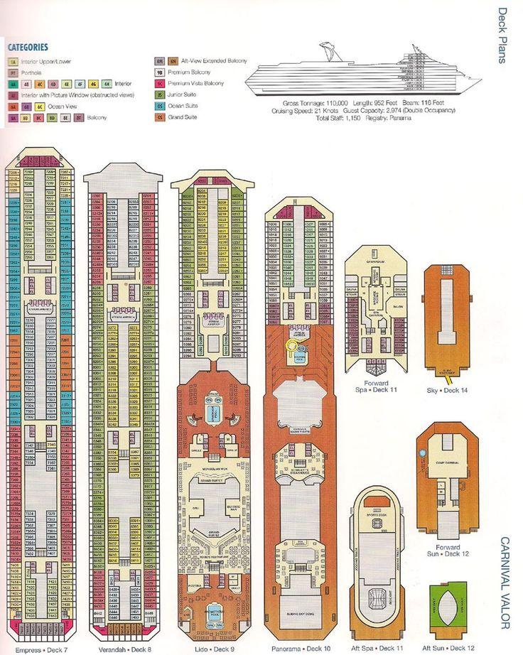 Carnival Valor Deck Plan