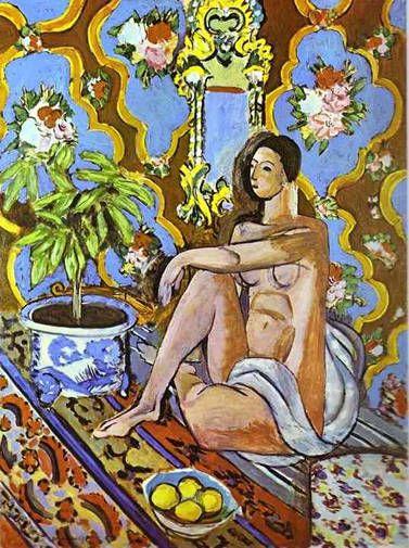 Figure décorative sur fond ornemental de Henri Matisse
